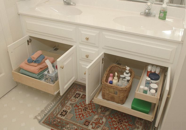 Bathroom Slide Out Shelves