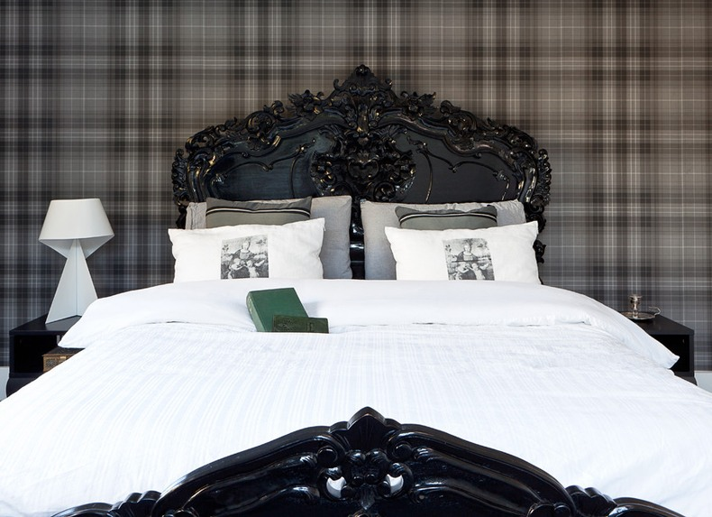 Sometimes black carved wood headboard size is not first, and even not second, element in the overall bedroom's decor.