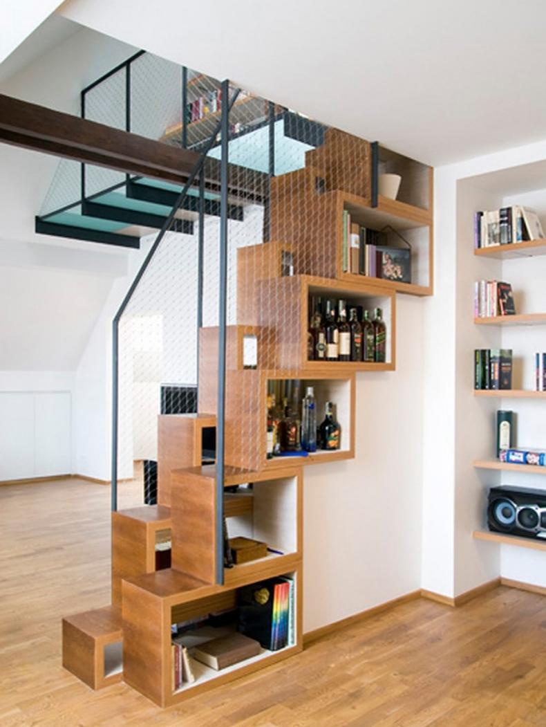 Bookshelf Staircase Design