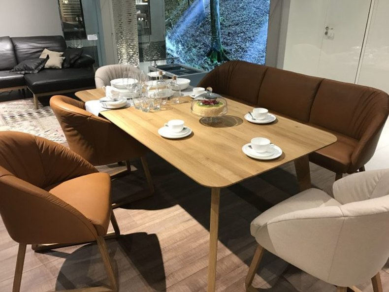 Brown Leather Banquette
