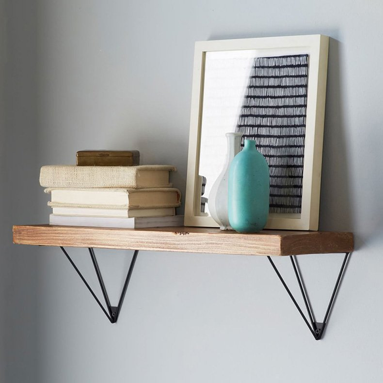 Hairpin shelf brackets are important and have a great influence on a shelf design.