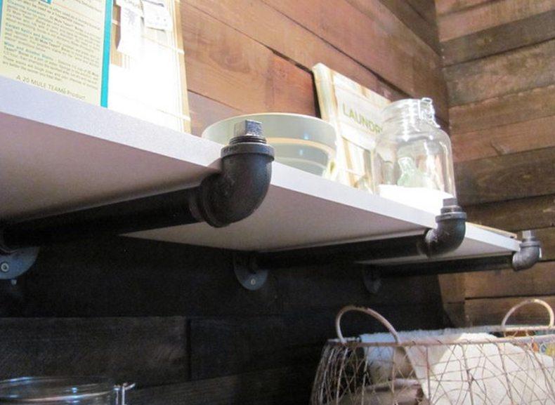 Industrial Shelf Pipe Brackets