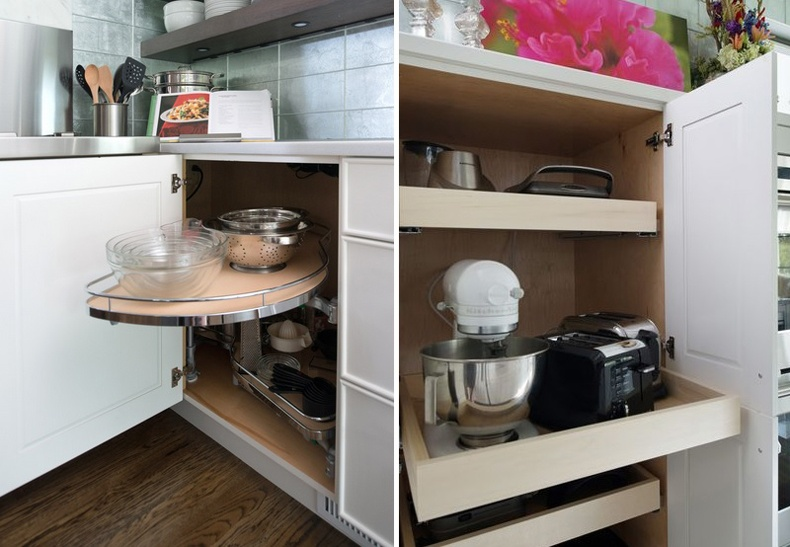 Kitchen Cabinet Sliding Organizers