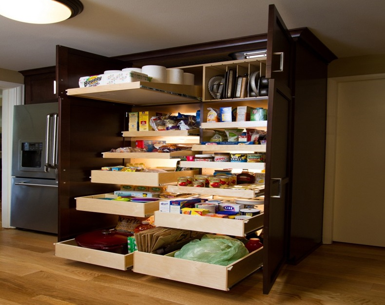 Slide Out Pantry Storage