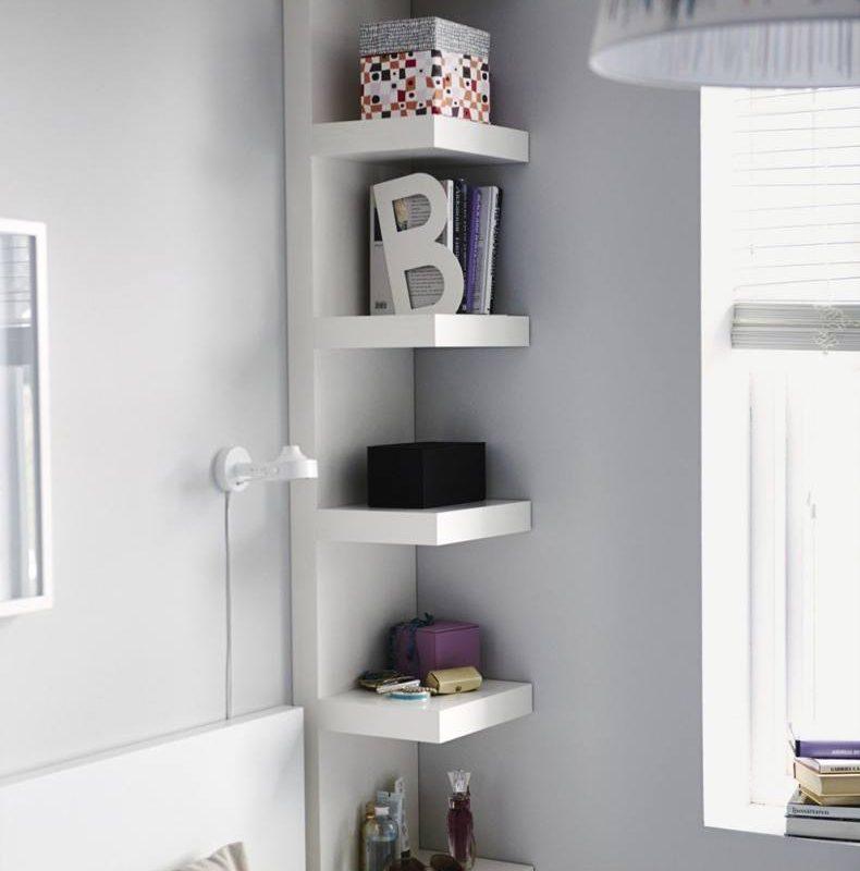 Wall Shelf Turned Into Nightstand