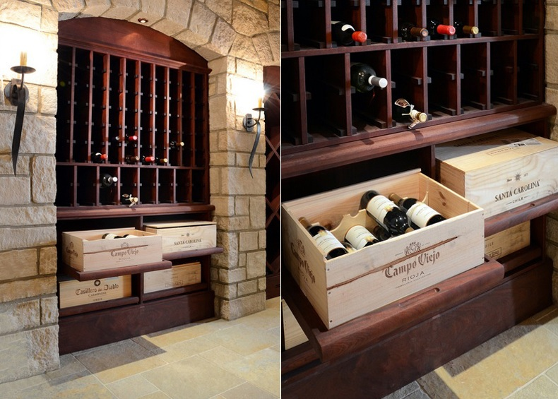 Wine Rack Sliding Shelves