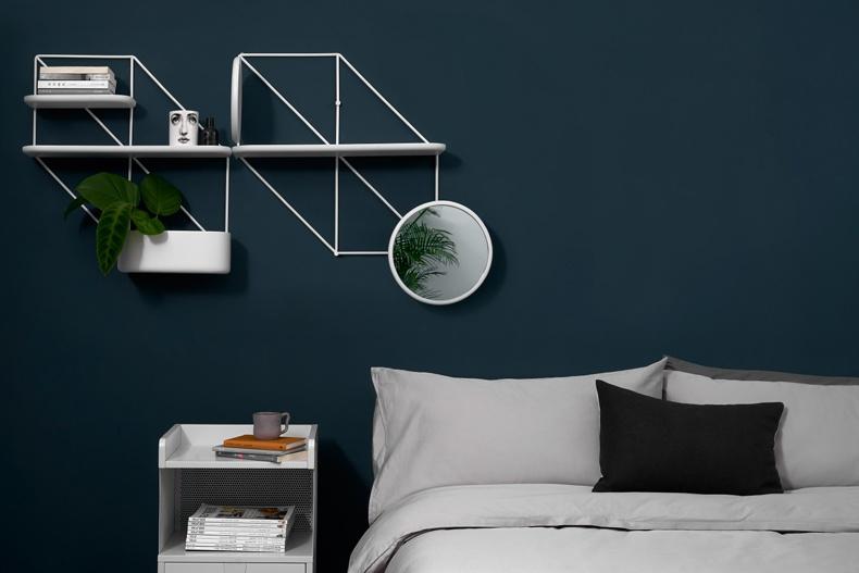 Hexagon Iron Wall Shelf