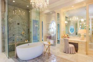 Luxury Bathroom Featuring The Vanity Stool