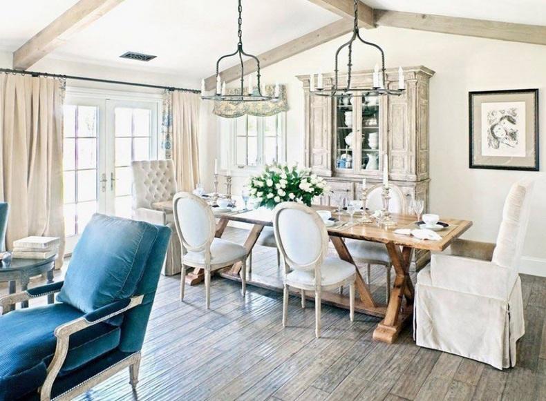Narrow Trestle Dining Table
