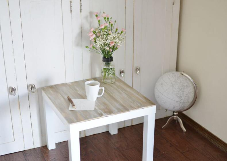 White Lack Table