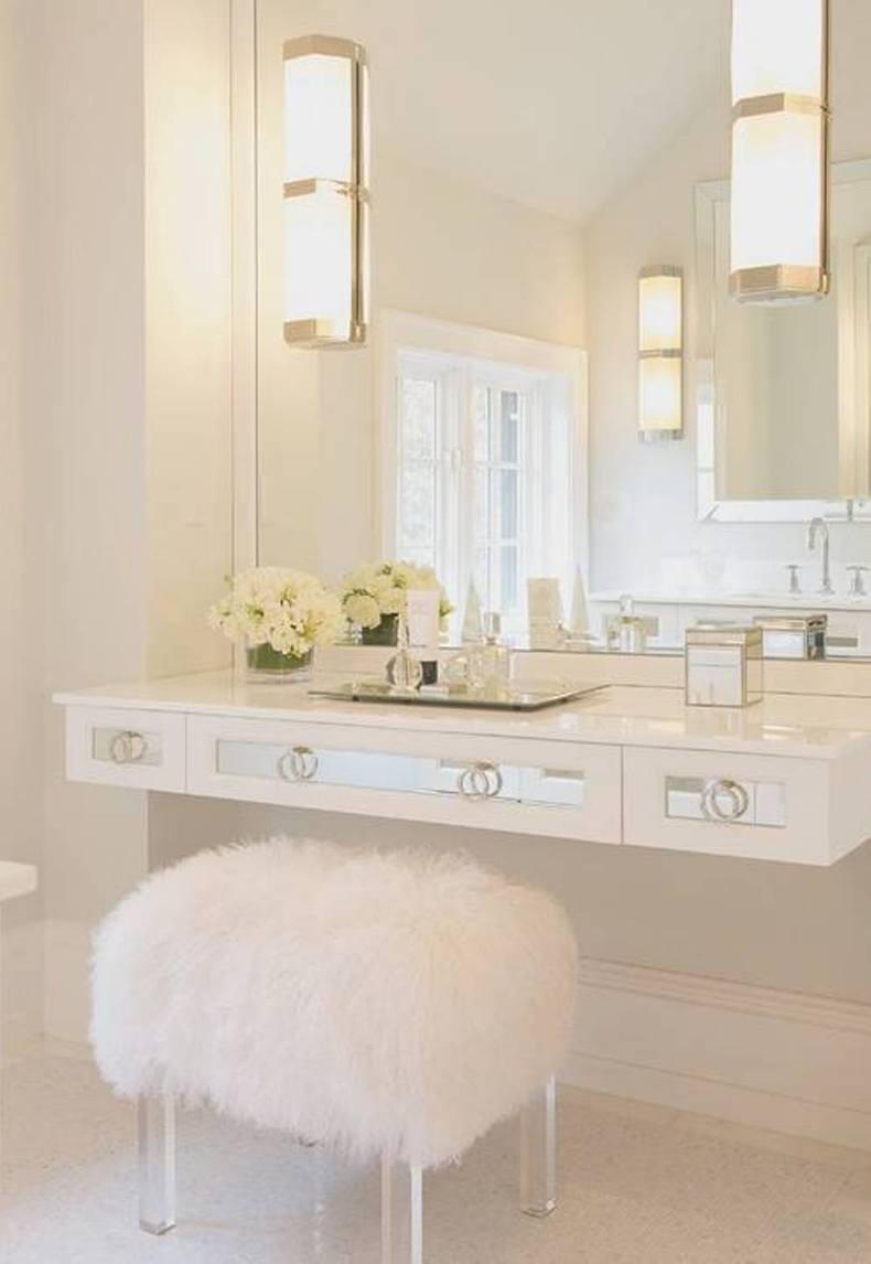 White Simple Vanity