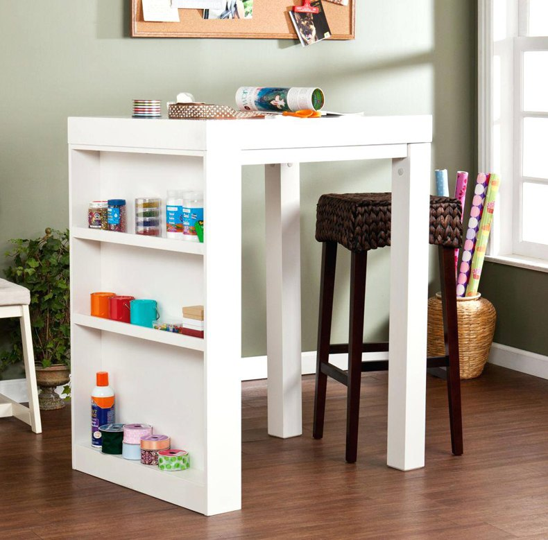 Small Craft Table With Storage