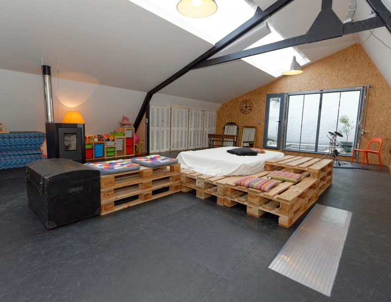 Big Attic Bedroom