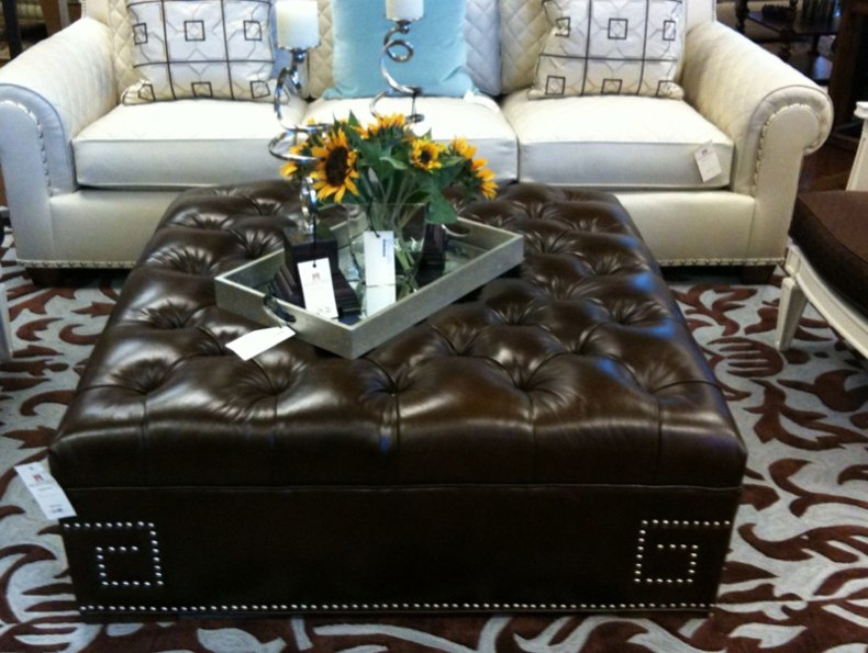 Leather Covered Coffee Table