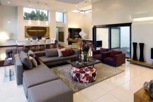White Floor Living Room
