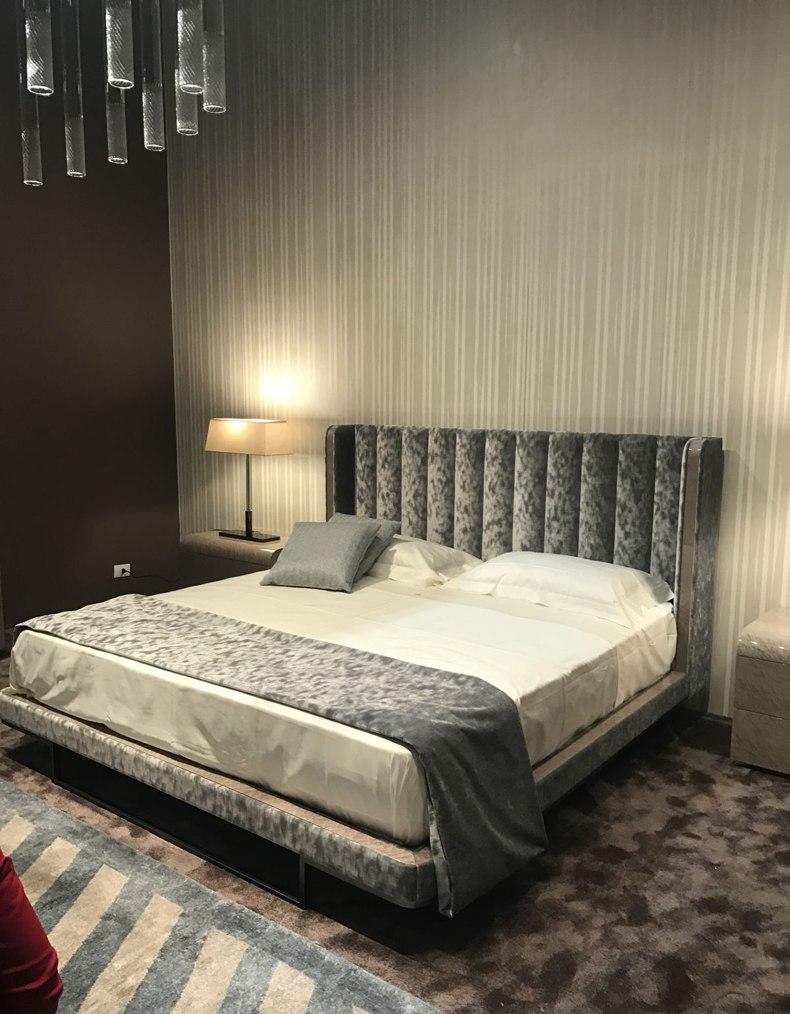 Velvet Grey Bed Frame