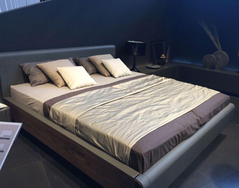 Grey And Walnut Bedroom