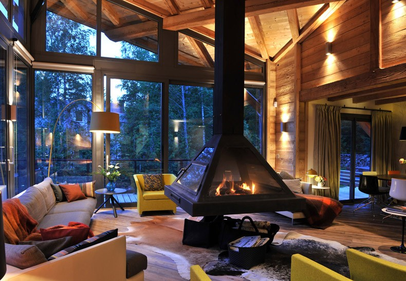 Ceiling Suspended Fireplace