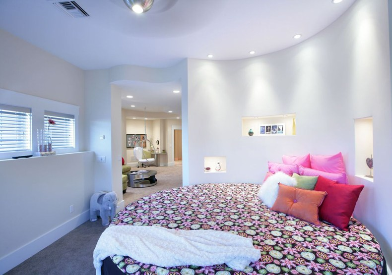Contemporary Round Bed