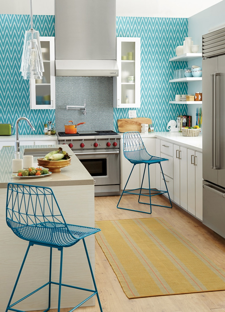 Contemporary Kitchen Wallpaper