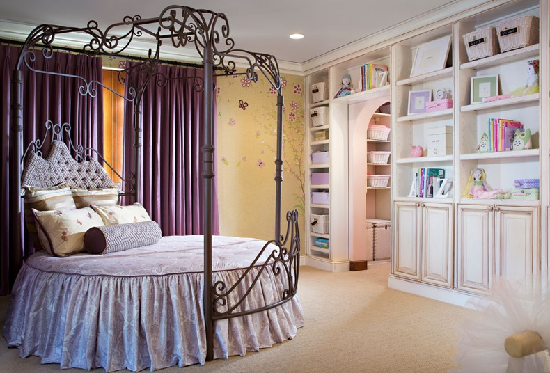 Fairytale Kids Room Round Canopy Bed