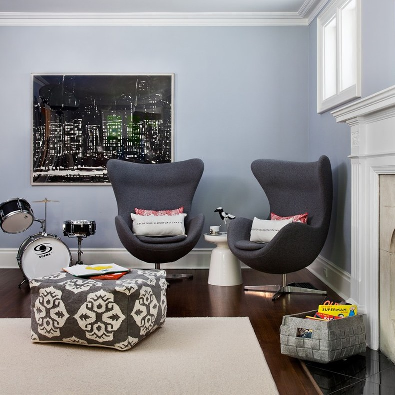 Grey Egg Chairs