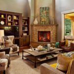 Corner Fireplace Furniture For Living Room Interior Designs