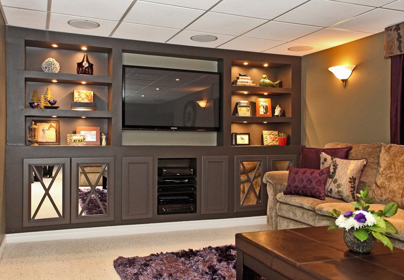 TV Room Built-in Cabinets