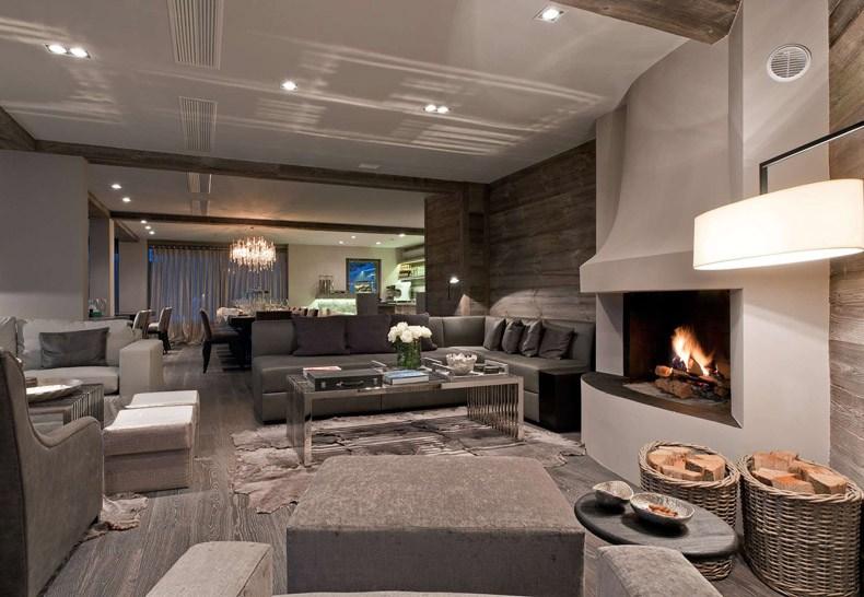 Modern Chalet Fireplace