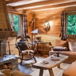 Comfortable Chalets with Awesome Indoor Wood Fireplace in Your Living Room