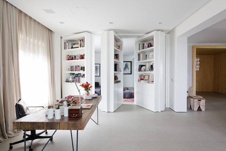 Bookshelf Murphy Door
