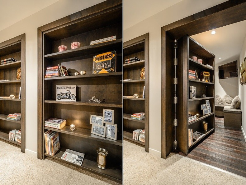 Beautiful Secret Room Behind a Bookcase