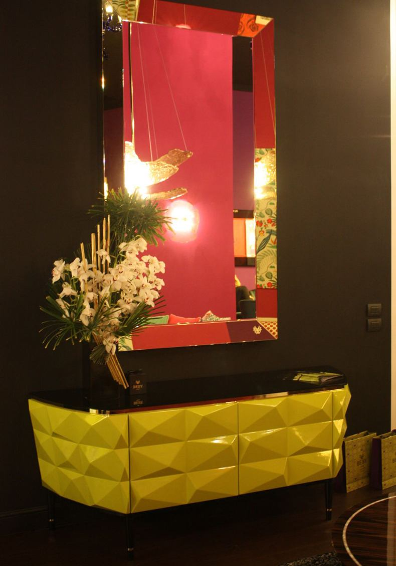 Yellow Entryway Table