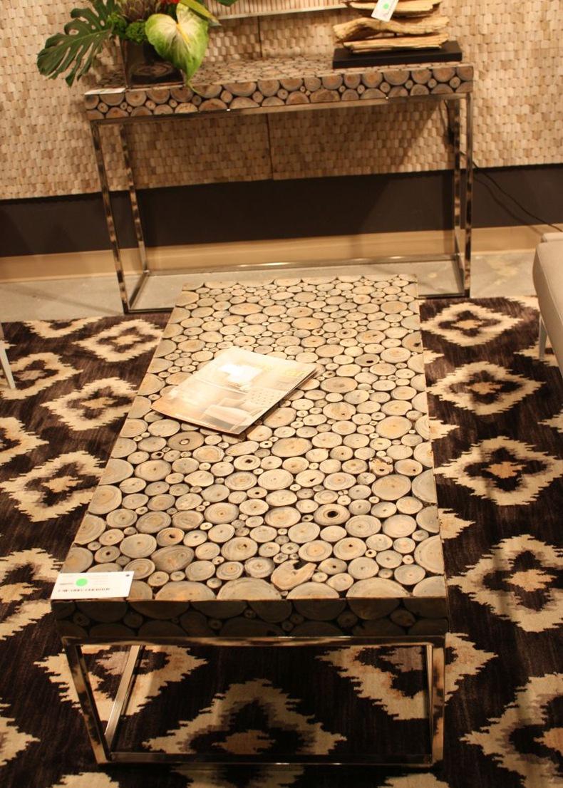 Jeffa Wood Slice Table