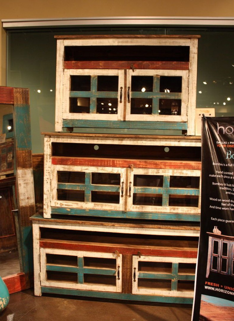 Rustic Painted Distressed Cabinets