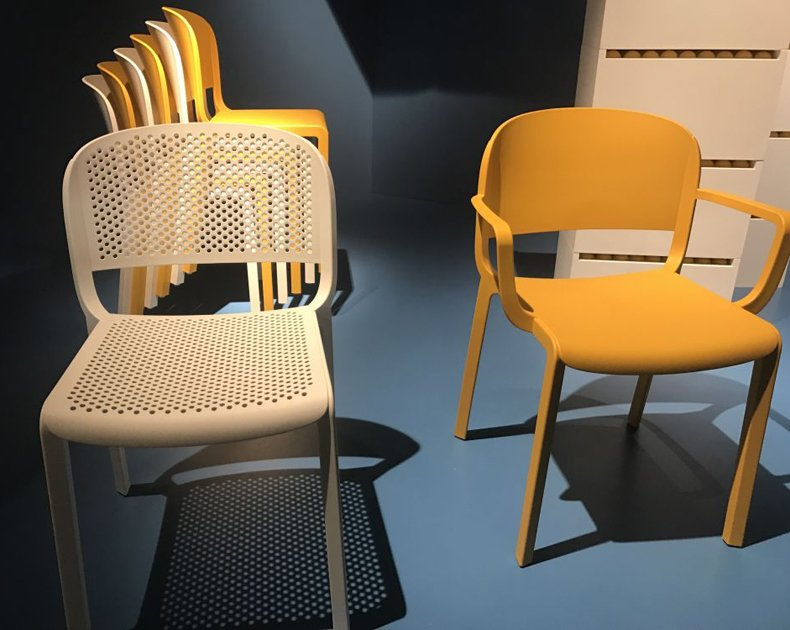 Stacking Yellow Chairs