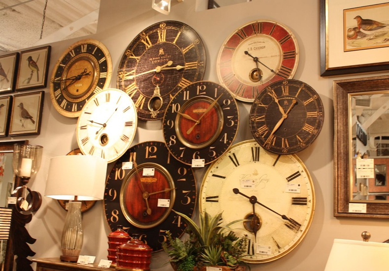Large Rustic Wooden Clock