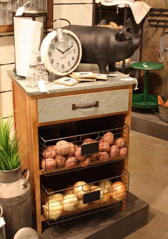 Farmhouse Wire Storage Baskets