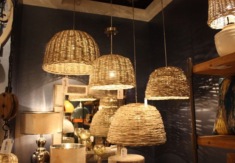 DIY Woven Pendant Light