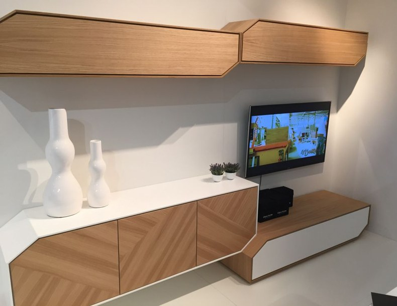 Wooden Wall Mounted TV Cabinet