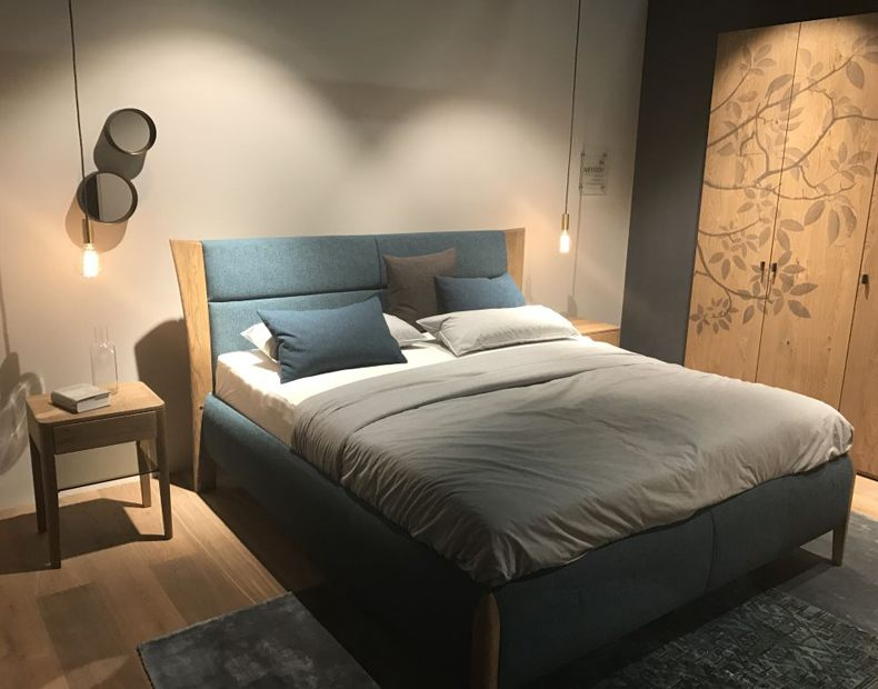 Fabric And Wood For Bed Design