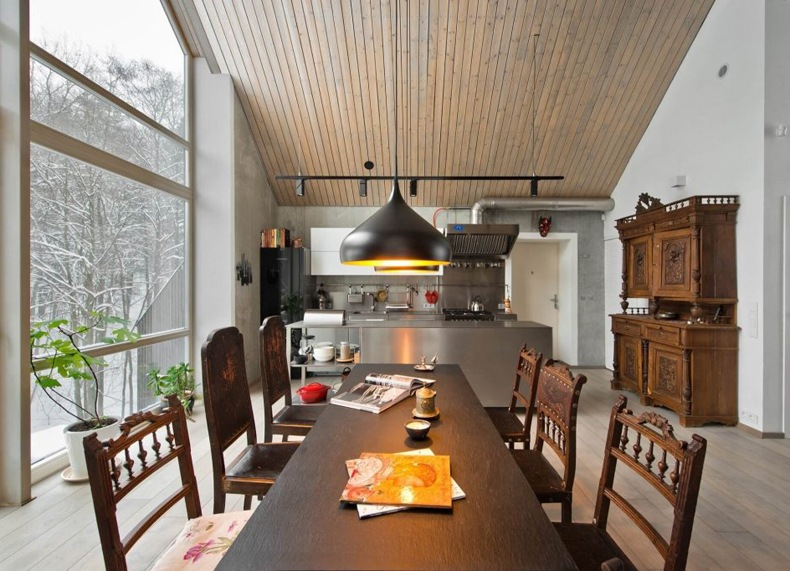 Lithuanian House Furnished With Antique Wooden Pieces
