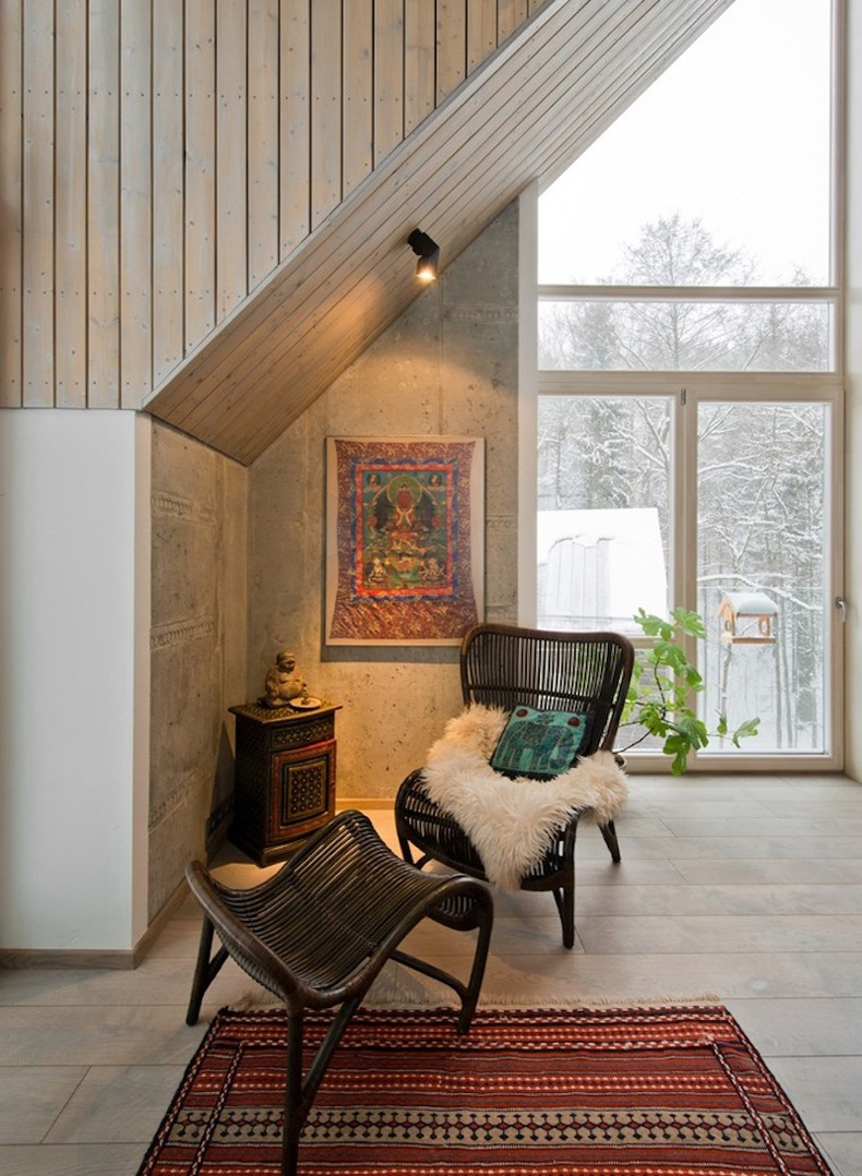 Lithuanian House Has A Cozy Reading Nook Tucked Under The Ceiling