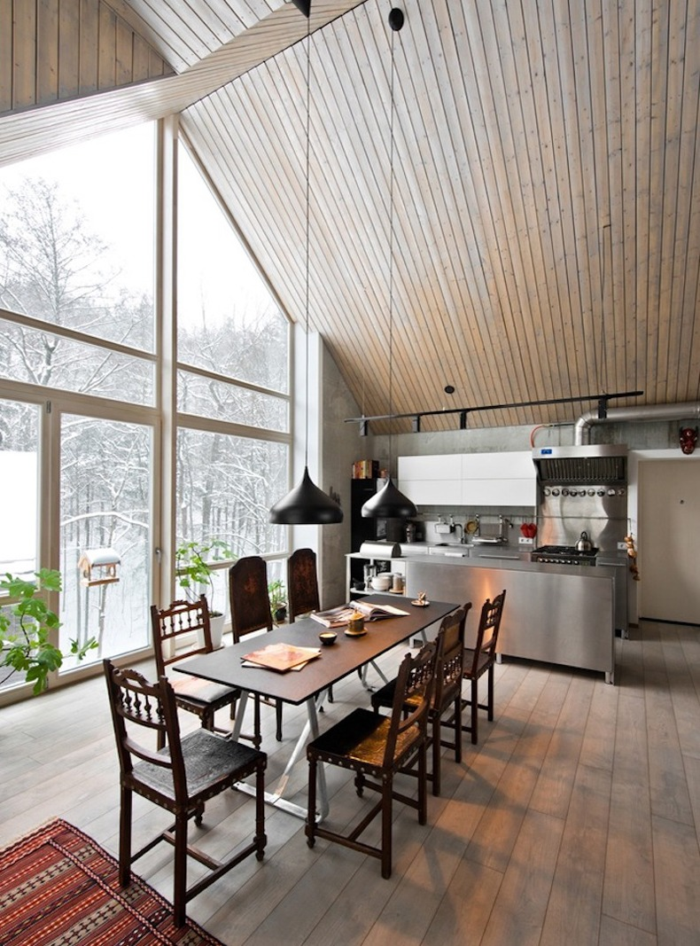Lithuanian House With An Open Kitchen Reminiscent Of Restaurants