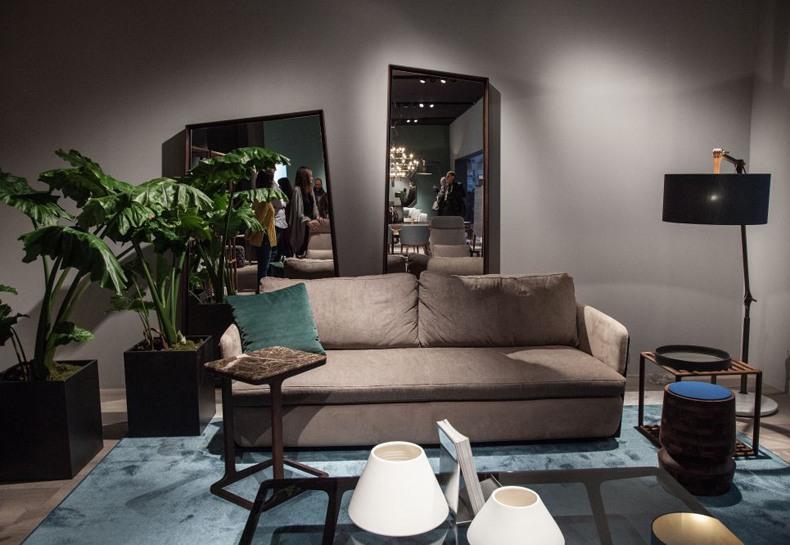 Mirrors Behind Sofa
