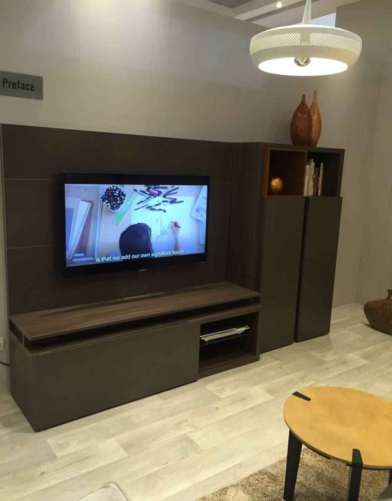 Modern Furniture With TV On The Wall – Take In Consideration Distance