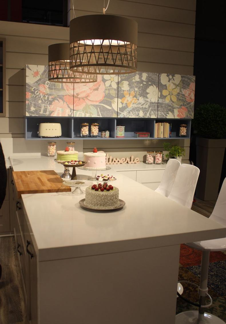 Arrex Kitchen With Floral Pattern For Cabinets