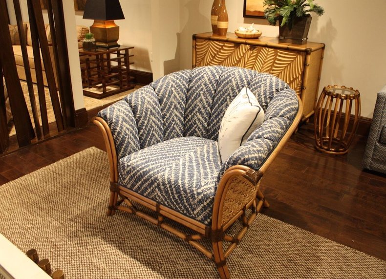 Blue Rattan Seating