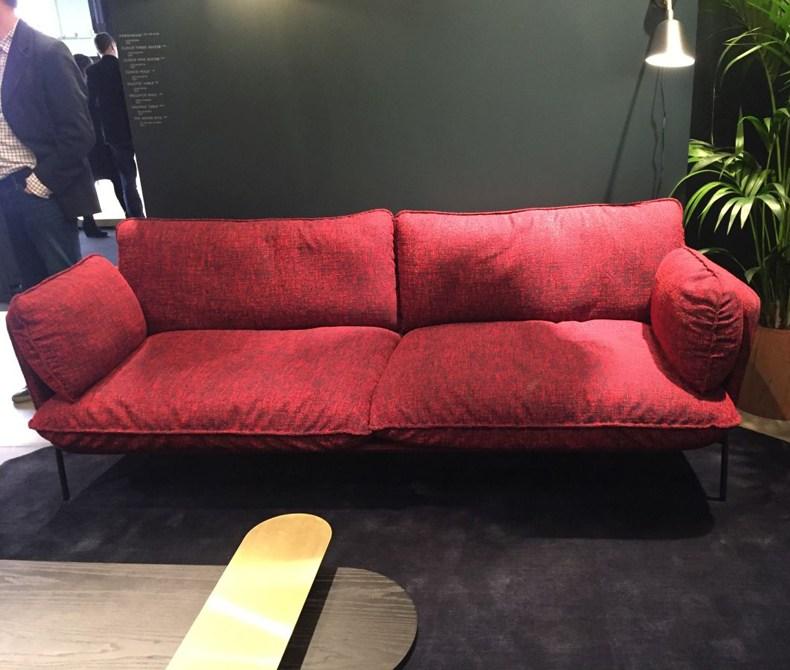 Brick Red Sofa
