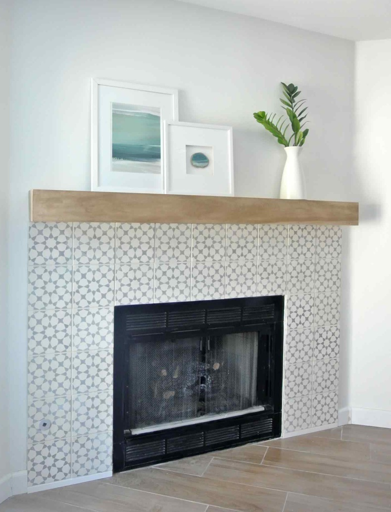 White Mantelpiece Shelf